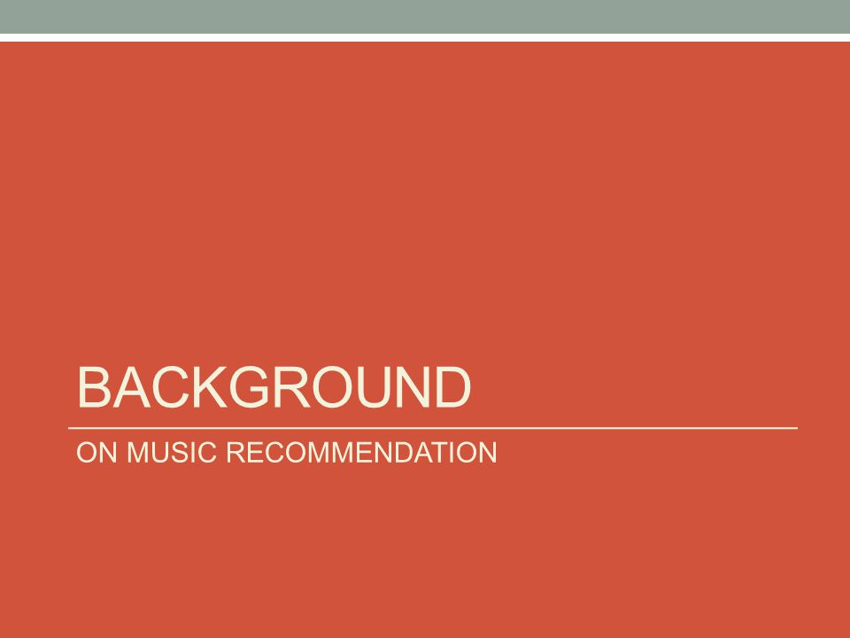 Music Recommendation Systems