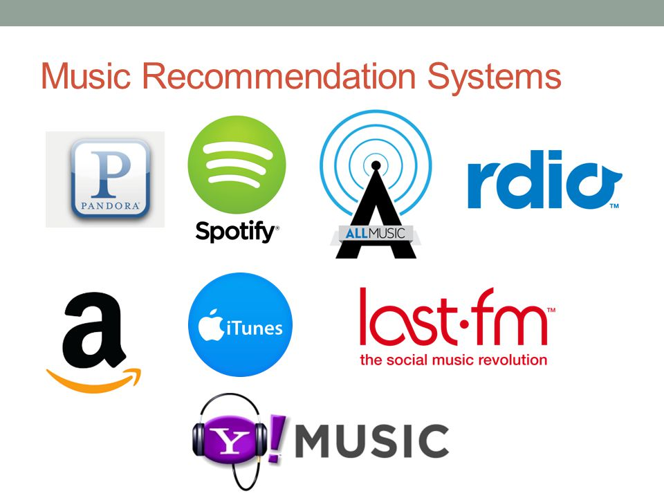 Approaches to Recommendation Collaborative Filtering Users that liked this artist/song also liked that artist/song Amazon, iTunes store, Spotify Tagging Categorization based on user-generated or pre-defined tags Calm, sad, romantic, cheerful, anxious, depressed Last.fm Content-based Look at the audio signal Not widely used in industry yet Pandora, Spotify (in progress) What can the lyrics tell us?