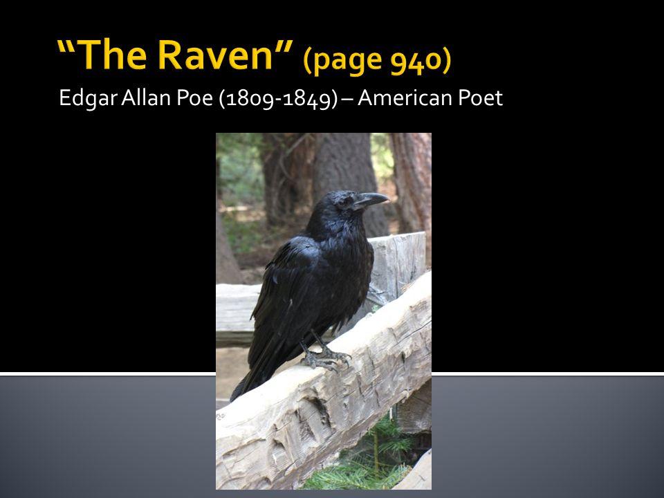 Edgar Allan Poe (1809-1849) – American Poet