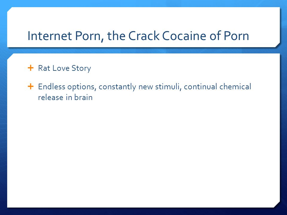 Internet Porn, the Crack Cocaine of Porn  Rat Love Story  Endless options, constantly new stimuli, continual chemical release in brain