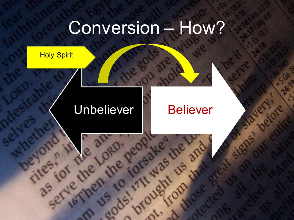 Conversion – How UnbelieverBeliever Holy Spirit