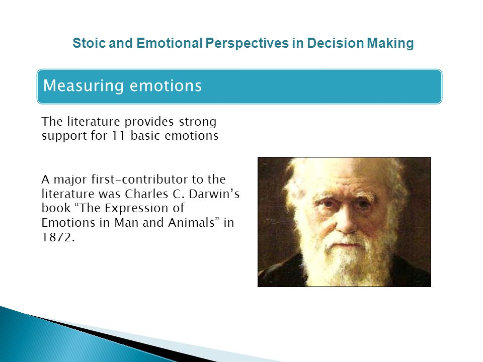 The literature provides strong support for 11 basic emotions A major first-contributor to the literature was Charles C.