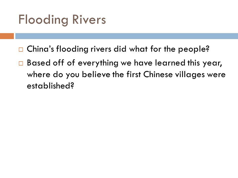 Flooding Rivers  China's flooding rivers did what for the people.