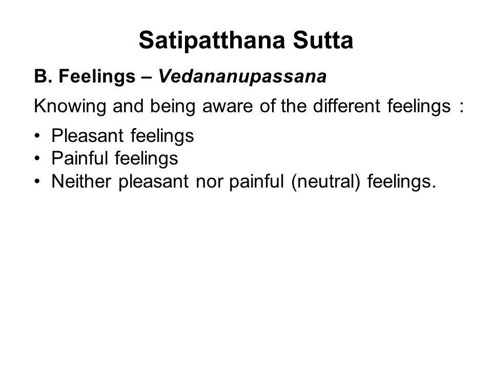 Satipatthana Sutta B.