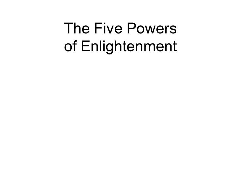 The Five Powers of Enlightenment