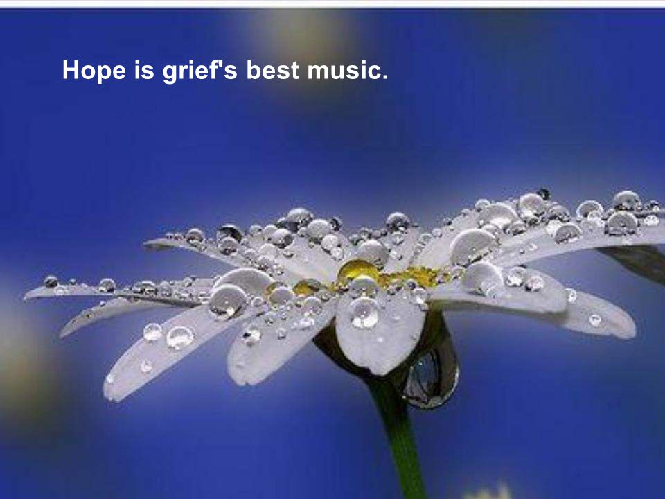Hope is grief s best music.