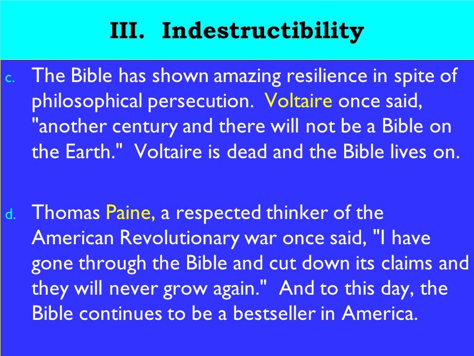 12 III. Indestructibility c.