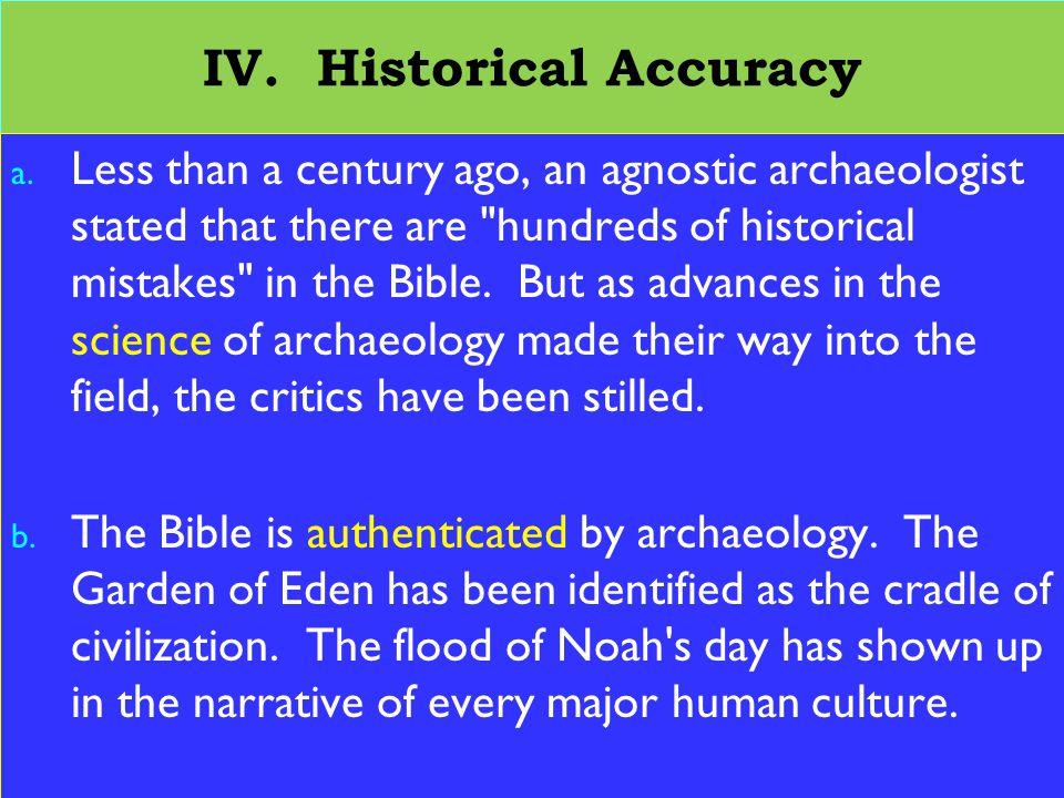 13 IV. Historical Accuracy a.