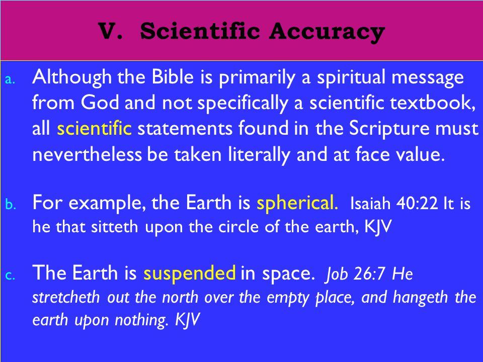 15 V. Scientific Accuracy a.