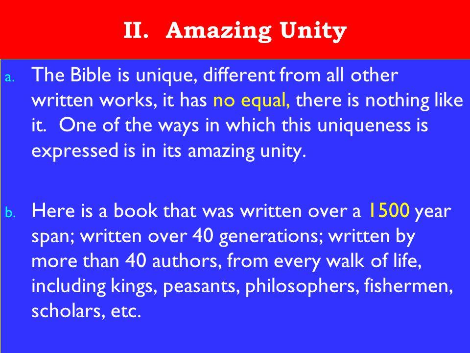 8 II. Amazing Unity a.