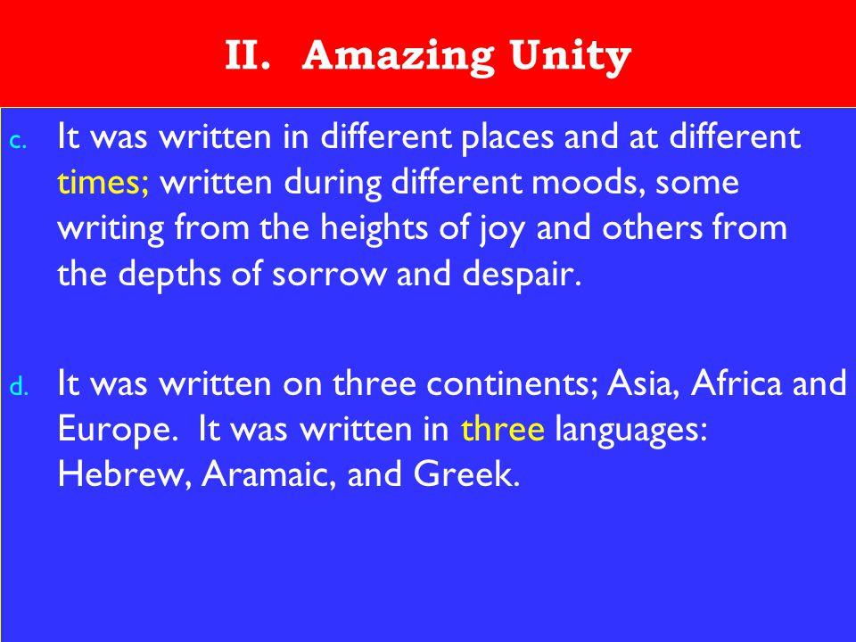 9 II. Amazing Unity c.