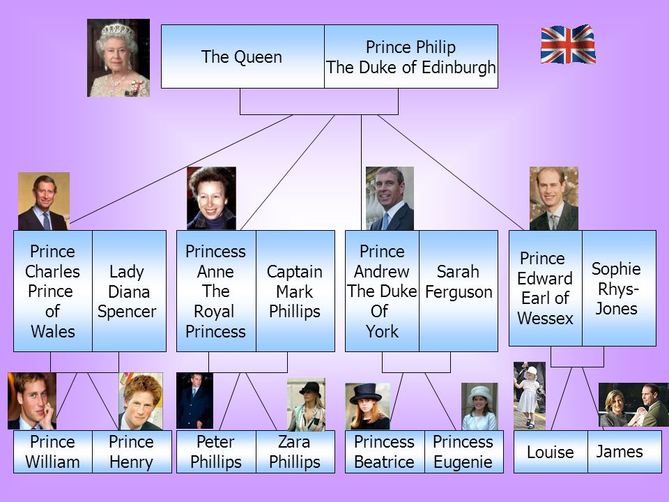 The Queen Prince Philip The Duke of Edinburgh Prince Charles Prince of Wales Lady Diana Spencer Princess Anne The Royal Princess Captain Mark Phillips
