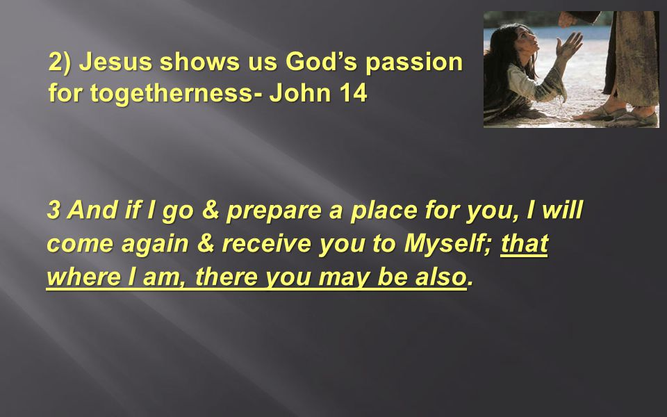 3 And if I go & prepare a place for you, I will come again & receive you to Myself; that where I am, there you may be also.
