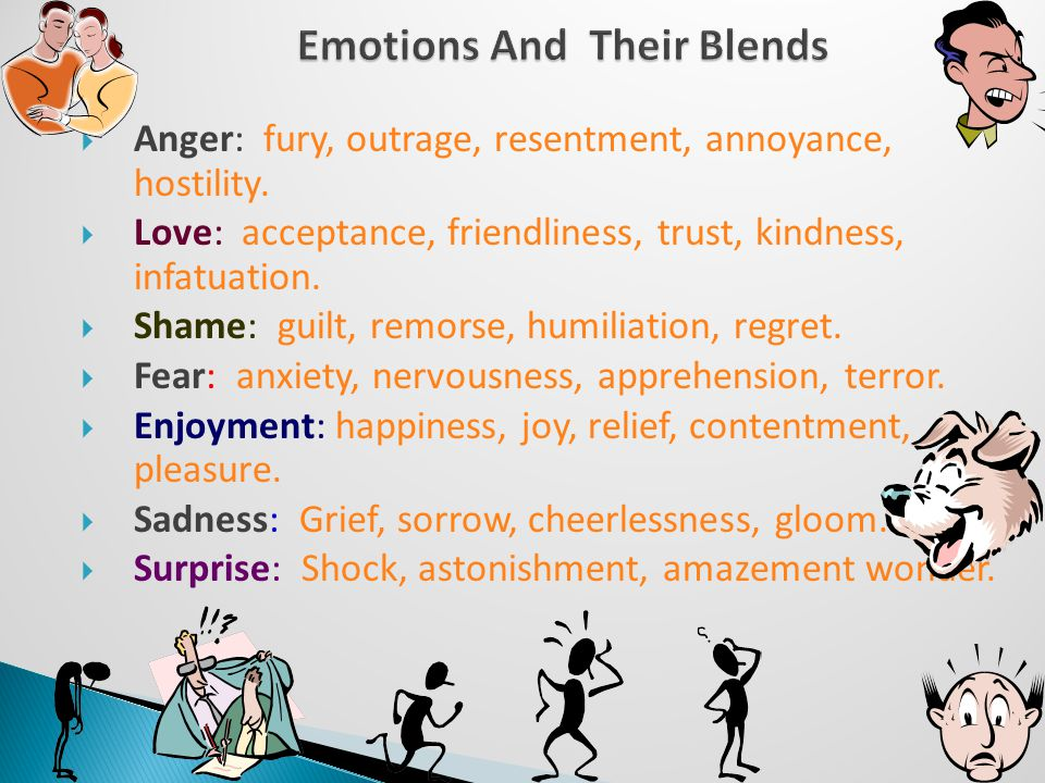 7  Anger: fury, outrage, resentment, annoyance, hostility.