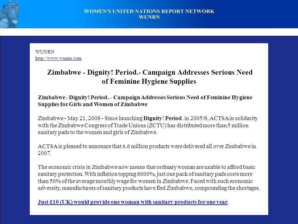 WUNRN http://www.wunrn.com Zimbabwe - Dignity.