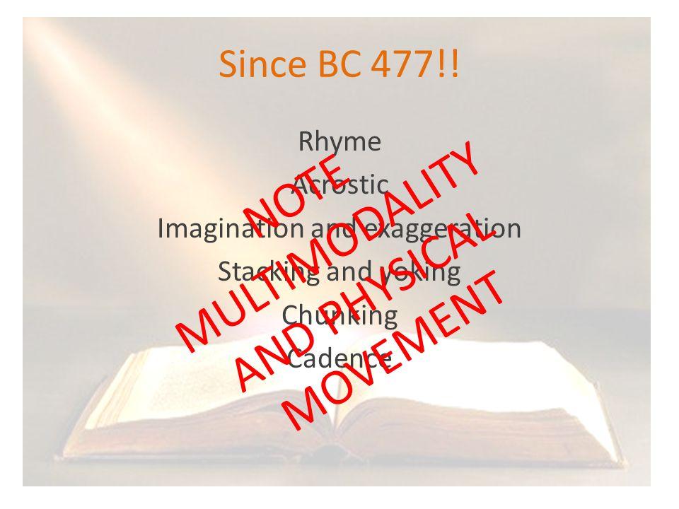 Since BC 477!.