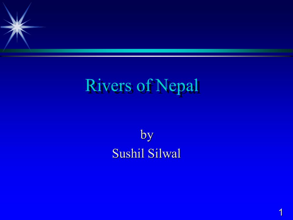 1 Rivers of Nepal by Sushil Silwal