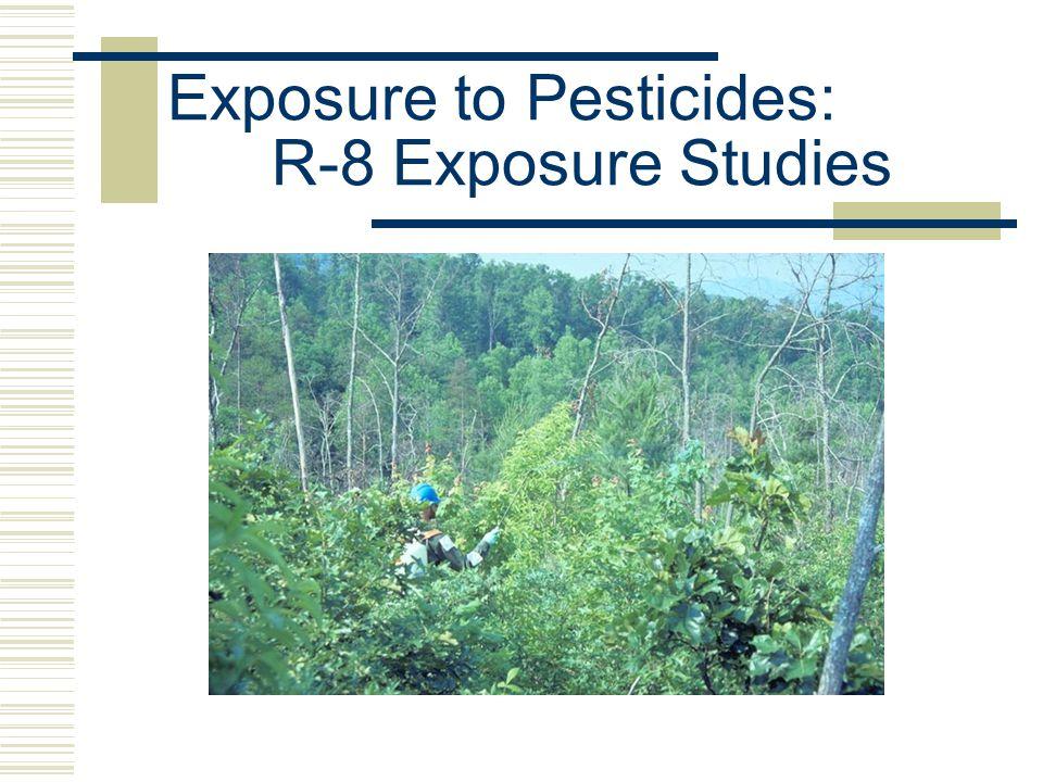 Exposure to Pesticides: R-8 Exposure Studies