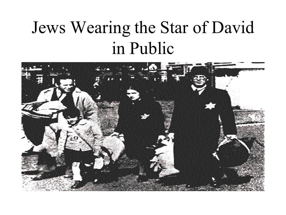 Jews Wearing the Star of David in Public
