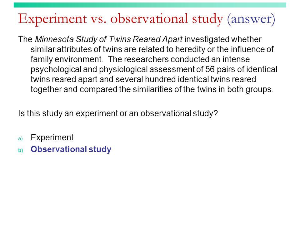 Experiment vs.