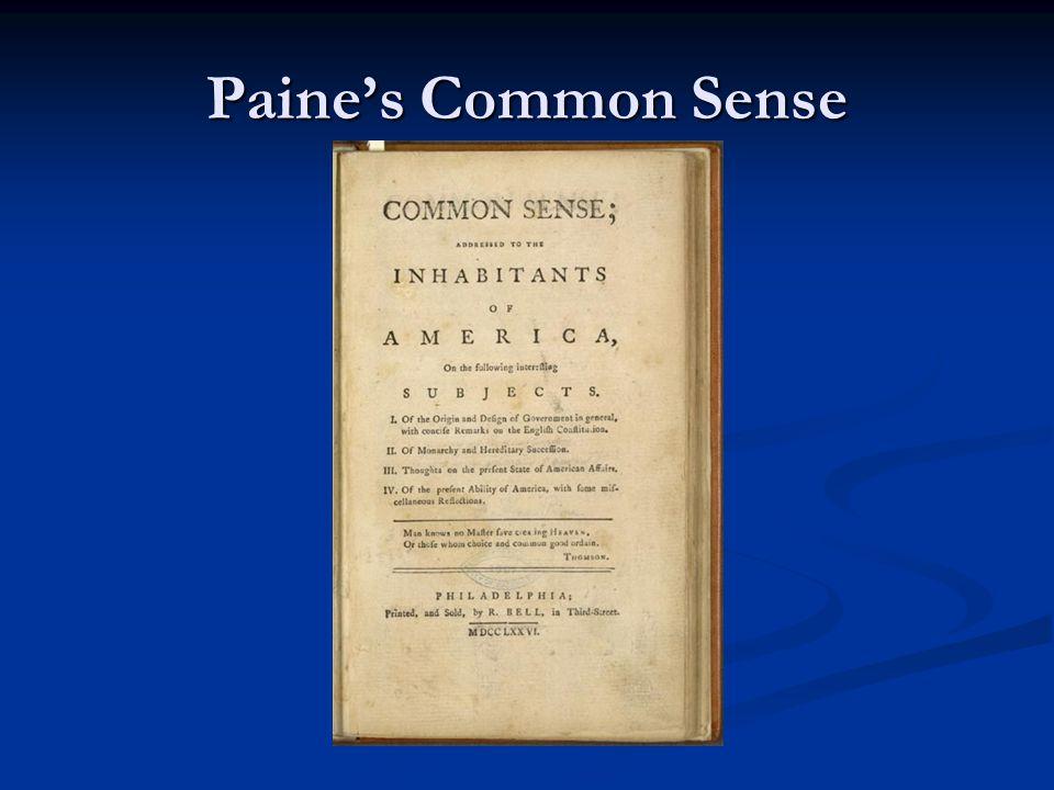 Paine's Common Sense