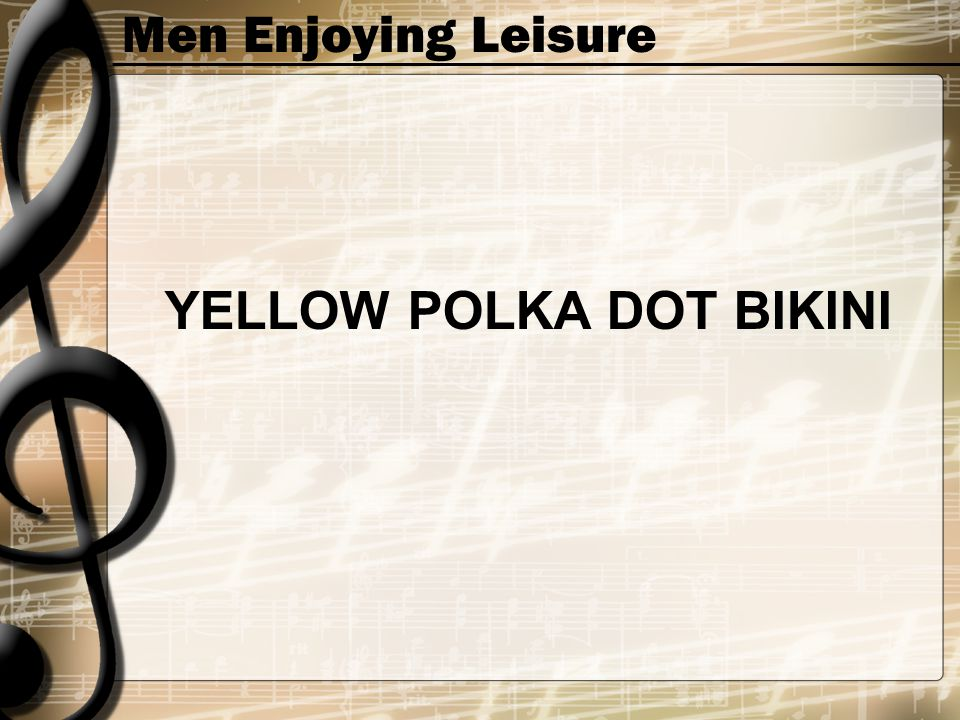 Men Enjoying Leisure YELLOW POLKA DOT BIKINI
