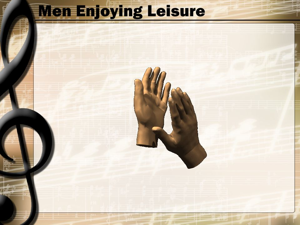 Men Enjoying Leisure