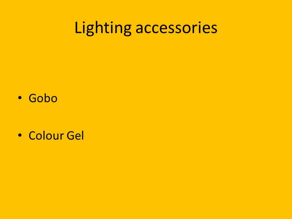 Lighting accessories Gobo Colour Gel