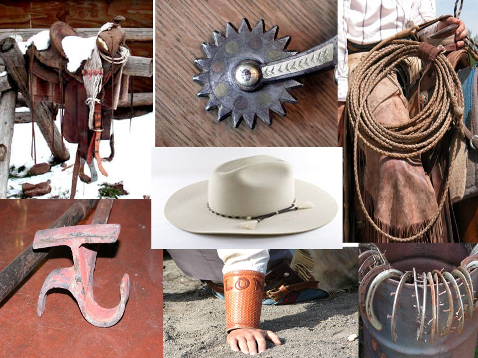 Boots with high heels prevent his feet from slipping out of the stirrups. Cowboy Clothing