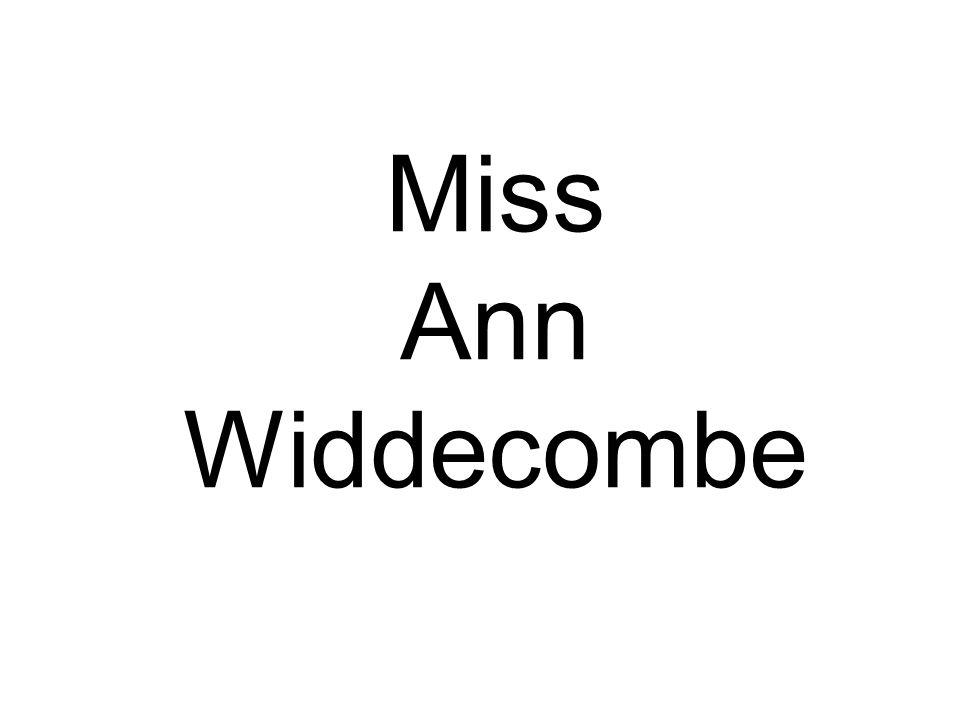 Miss Ann Widdecombe