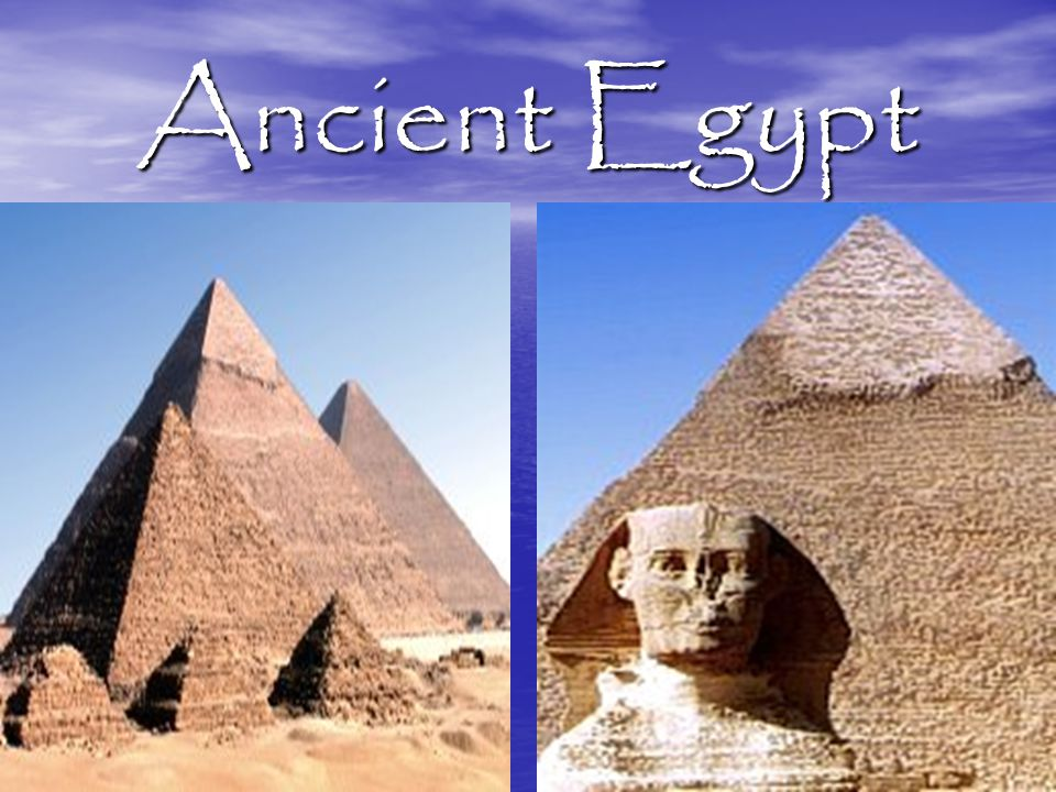 The Pyramid Builders The Old Kingdom The First Dynasty The First Dynasty - Legend says a king, Narmer, united Upper and Lower Egypt.