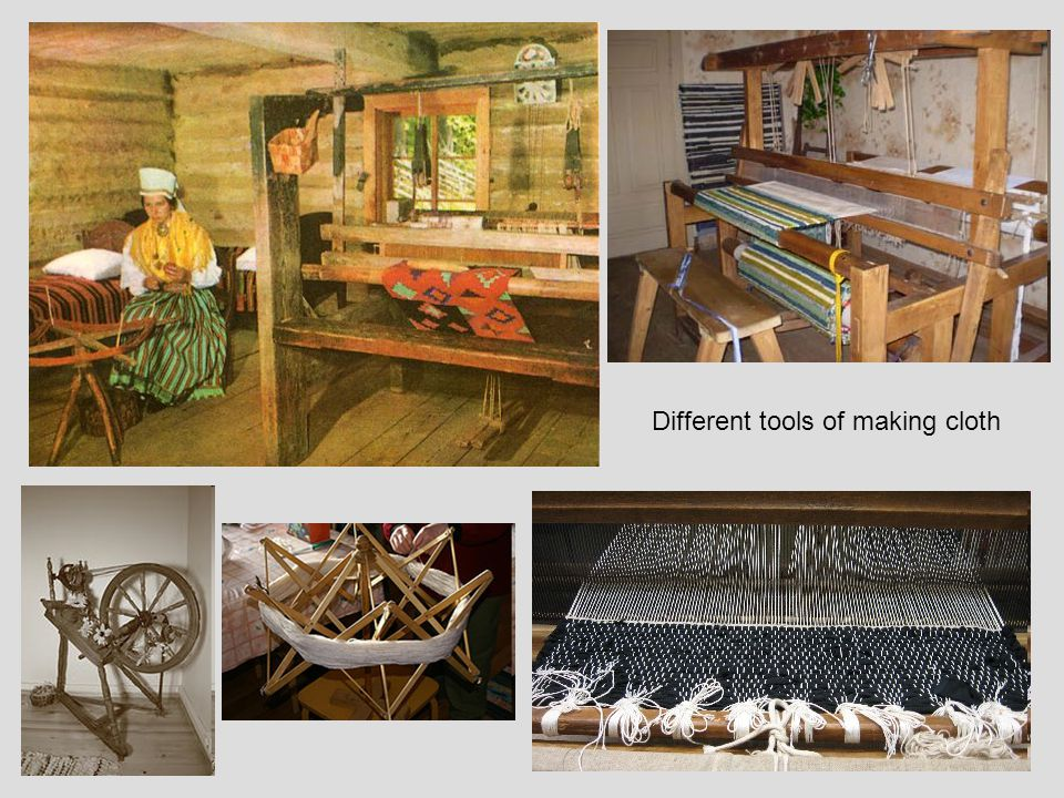Different tools of making cloth