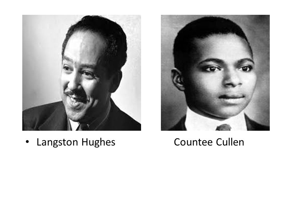 Langston HughesCountee Cullen