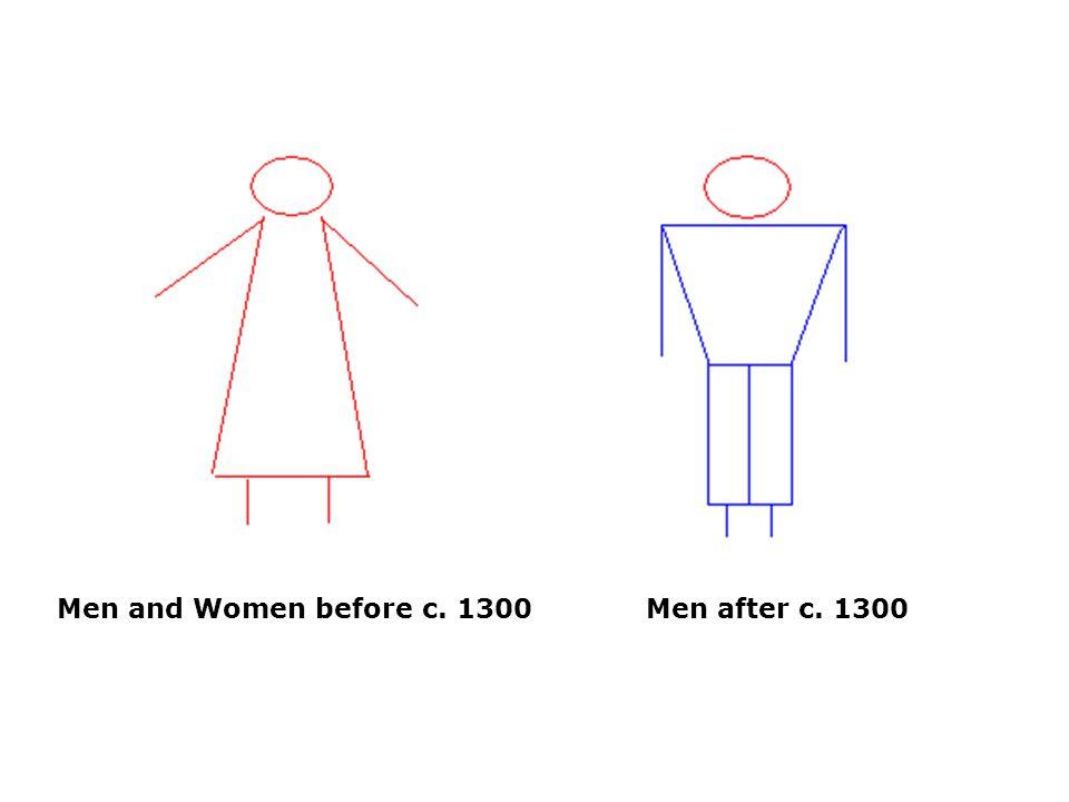 Men and Women before c. 1300 Men after c. 1300