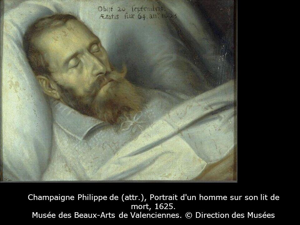 Champaigne Philippe de (attr.), Portrait d un homme sur son lit de mort, 1625.