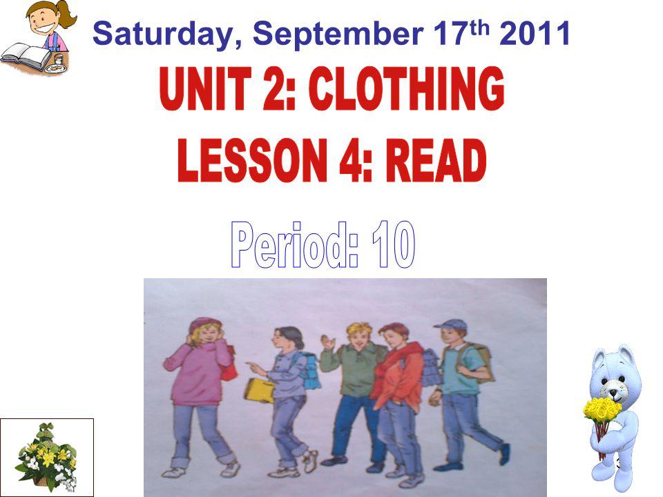 3 Saturday, September 17 th 2011