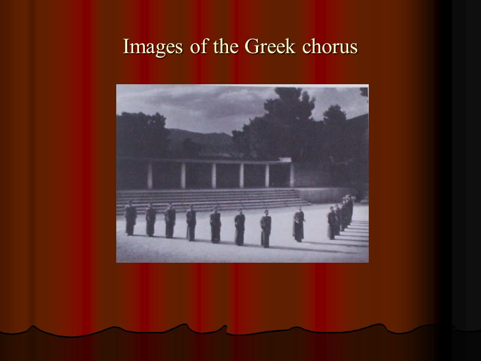 Images of the Greek chorus
