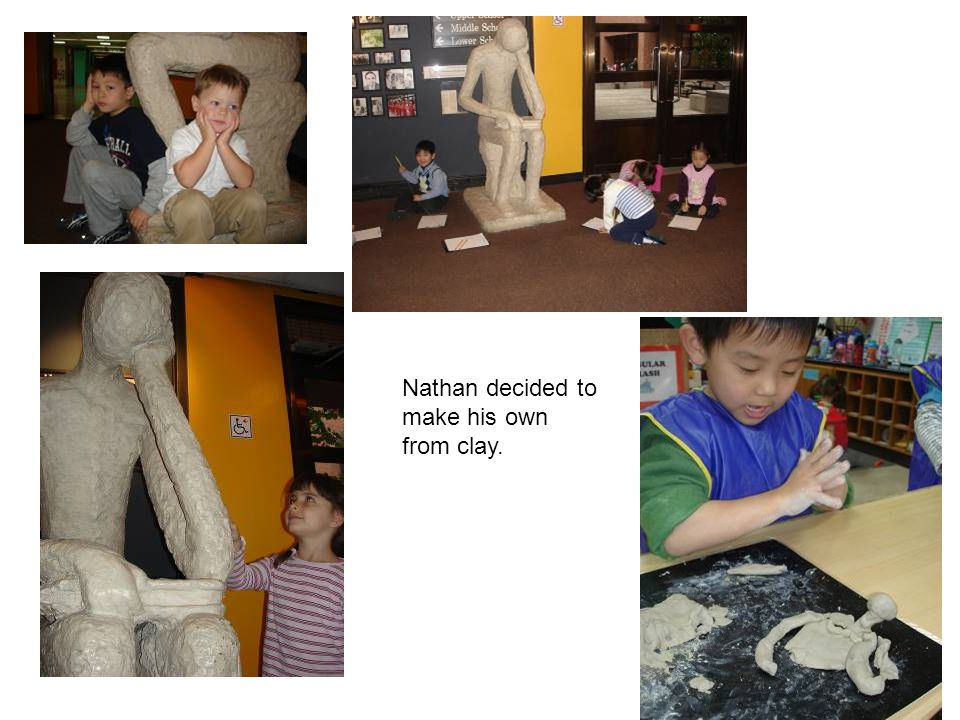 Nathan decided to make his own from clay.