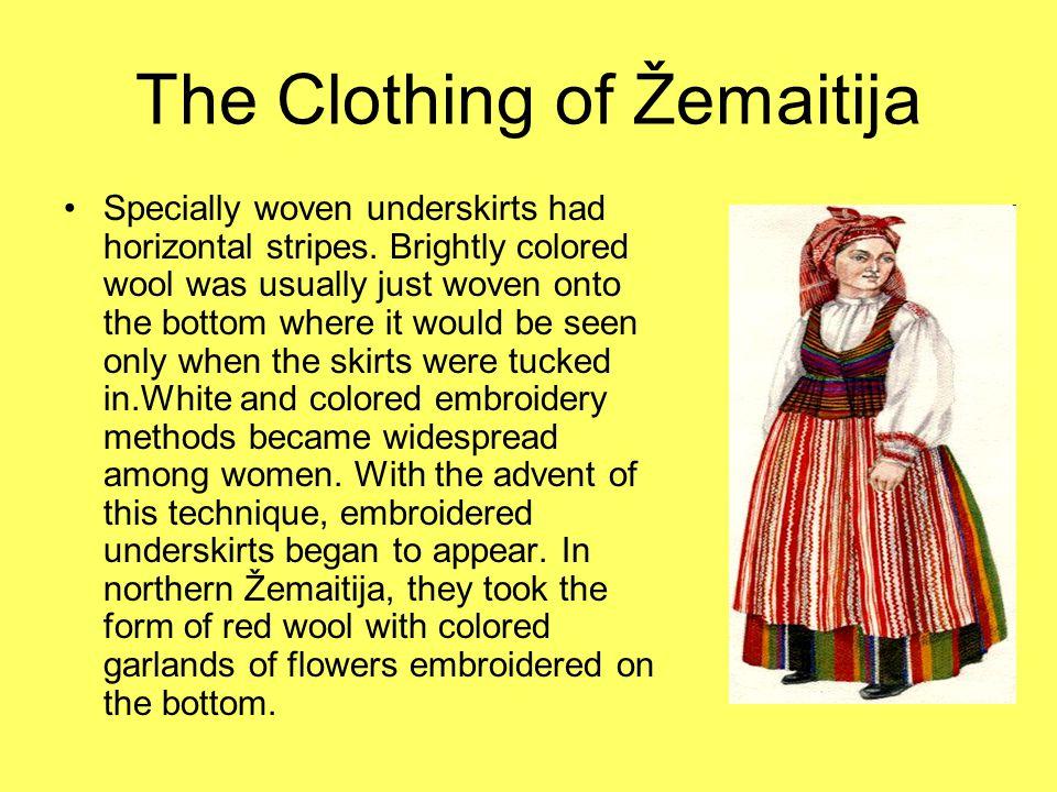The Clothing of Dzūkija Men in Dzūkija wore caftans of undyed grey matted woolen cloth.