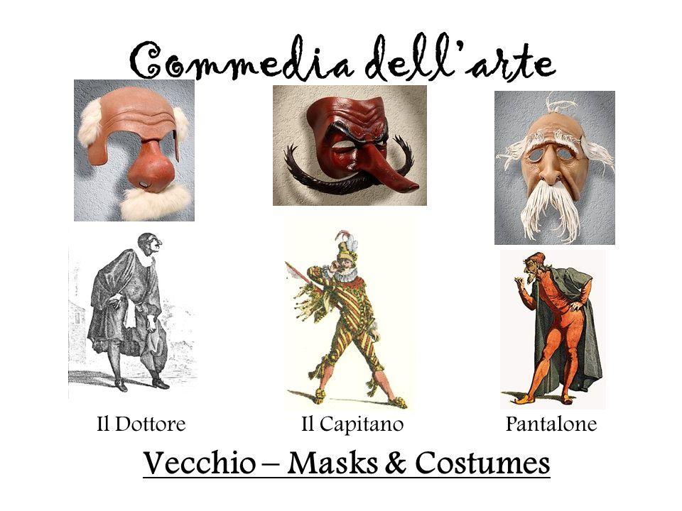 Il DottoreIl CapitanoPantalone Vecchio – Masks & Costumes Commedia dell'arte