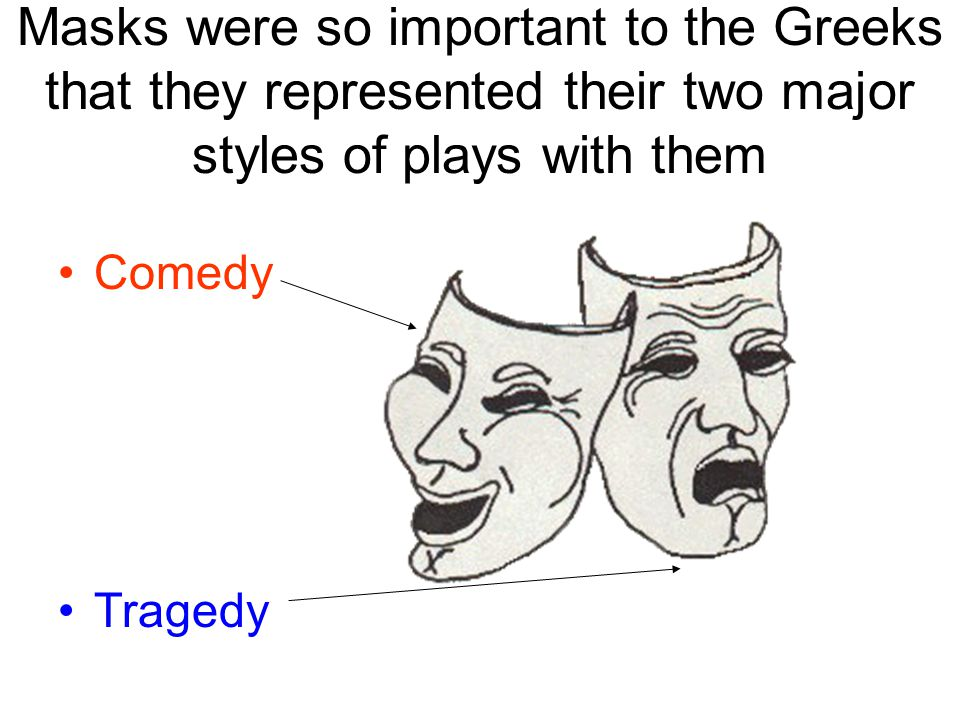 Masks were so important to the Greeks that they represented their two major styles of plays with them Comedy Tragedy