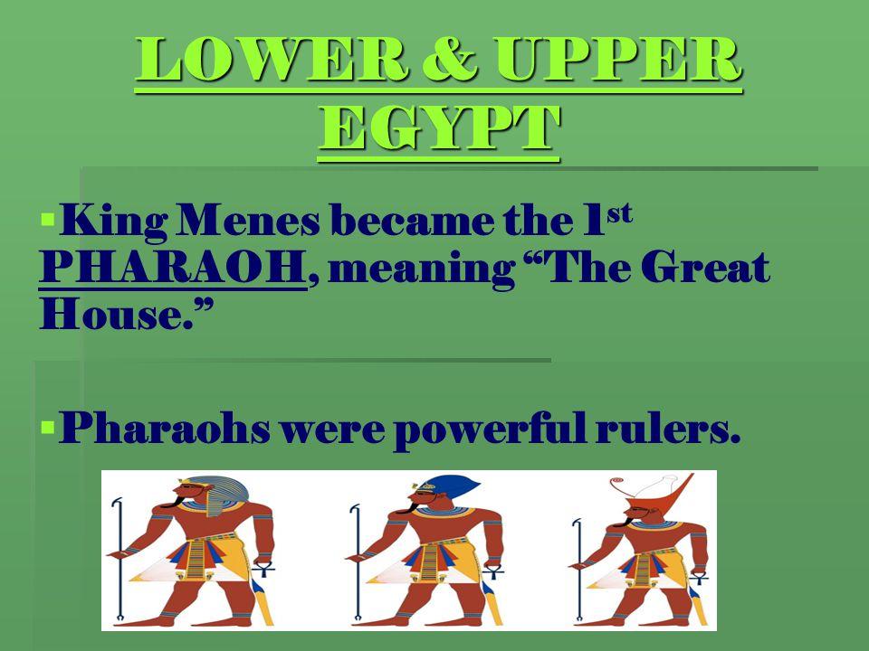 EGYPTIAN LIFE & RELIGION   Both men & women wore make-up.