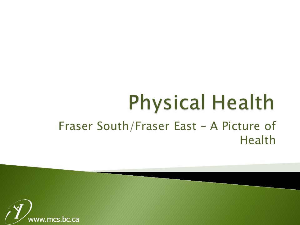 Fraser South/Fraser East – A Picture of Health www.mcs.bc.ca