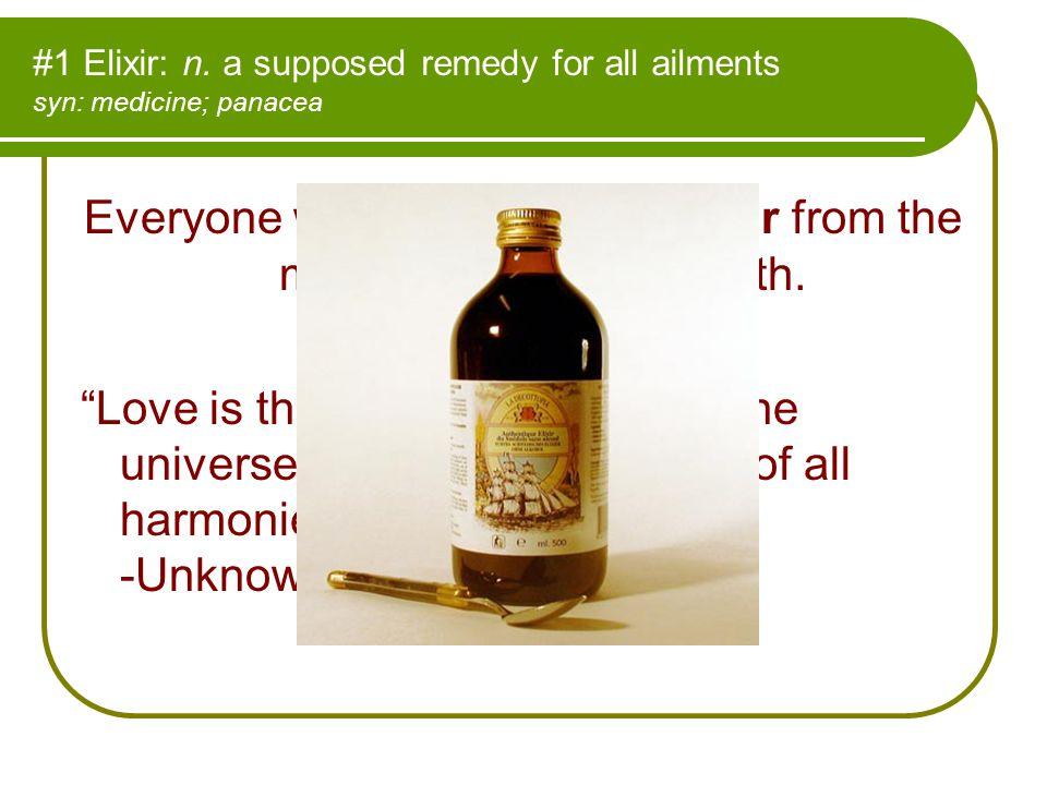 #1 Elixir: n.