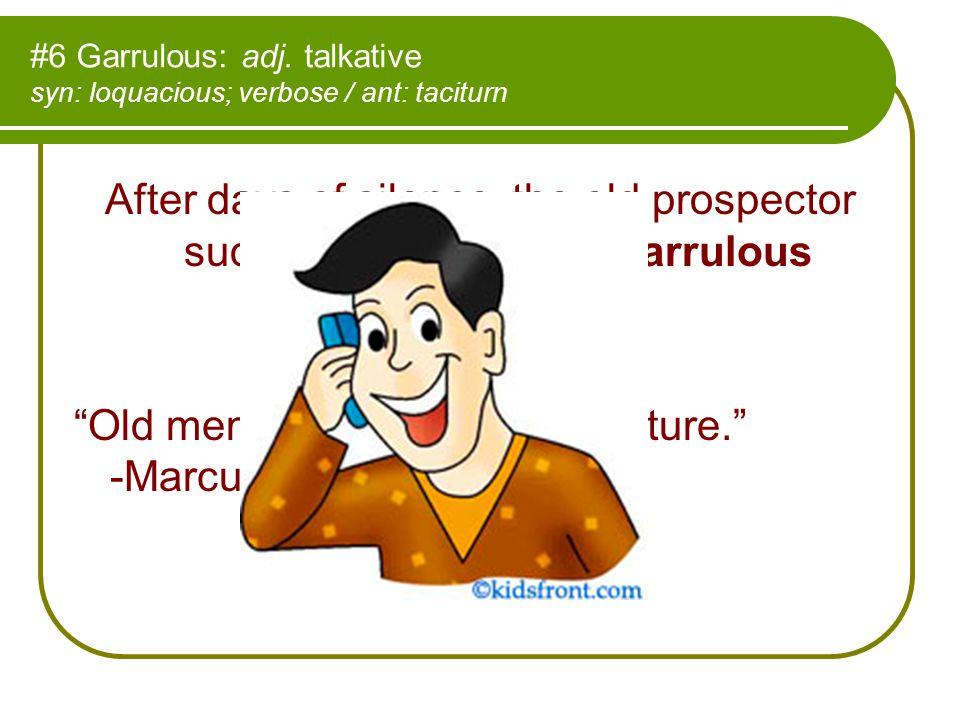 #6 Garrulous: adj.