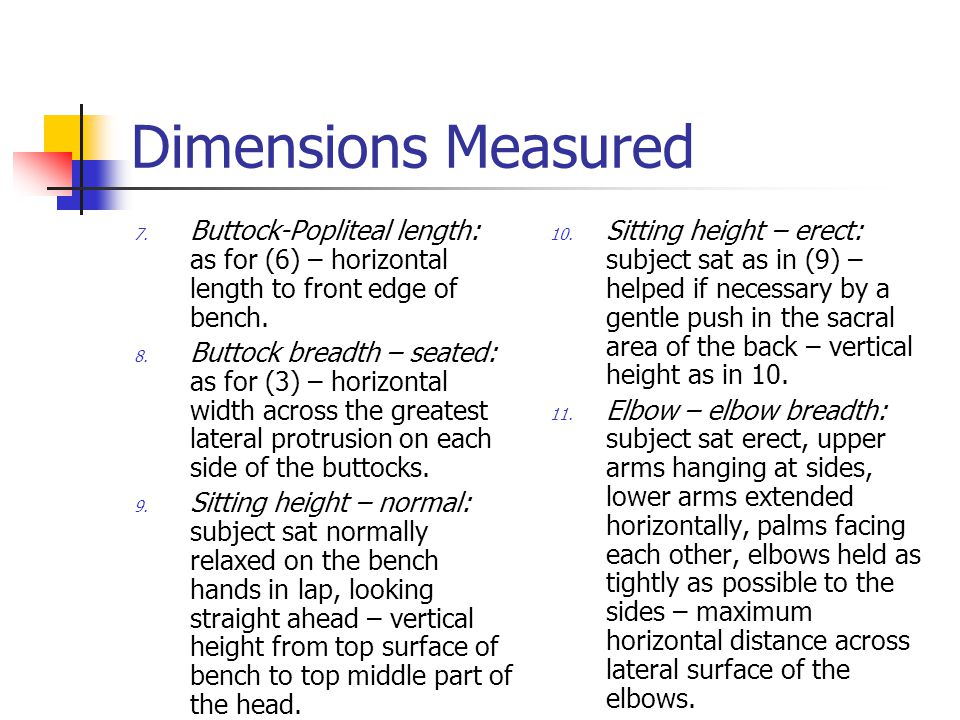 Dimensions Measured 7.