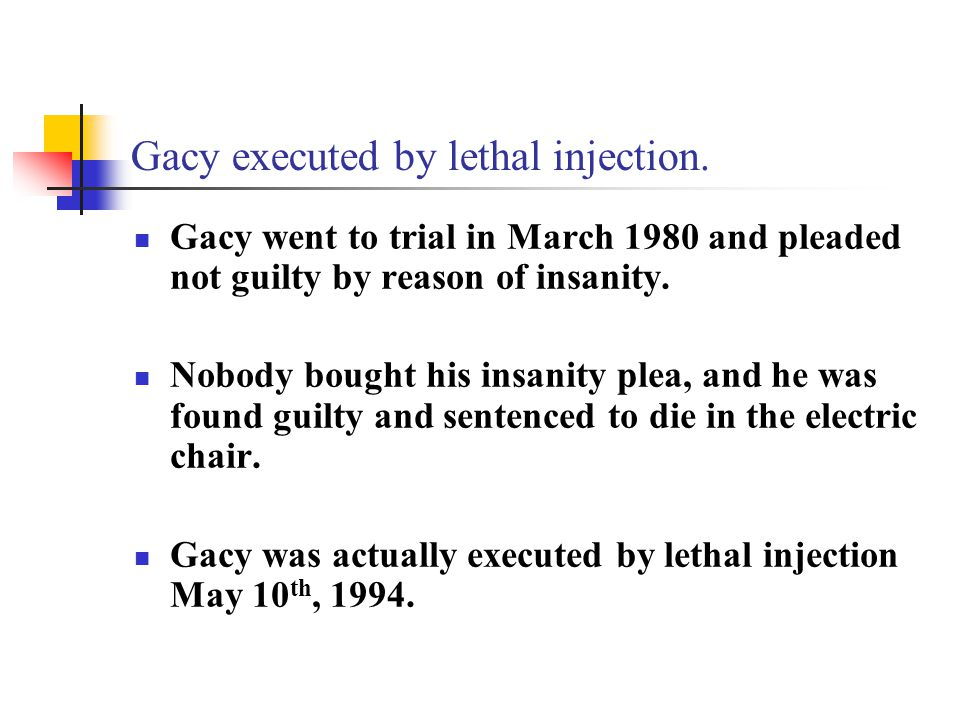 Gacy executed by lethal injection.