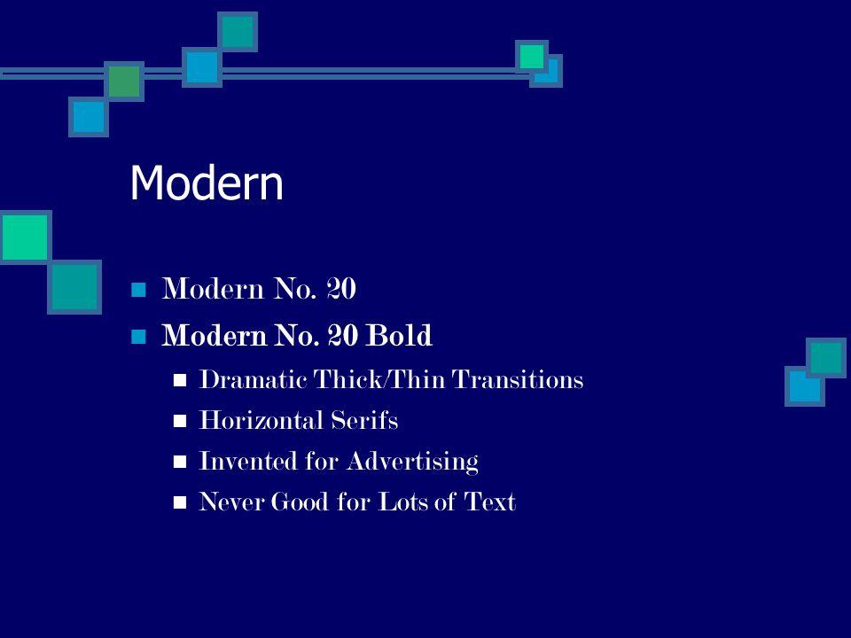 Modern Modern No. 20 Modern No.
