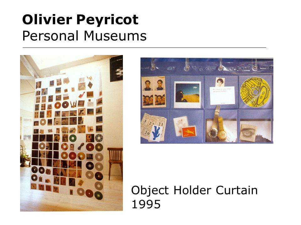 Olivier Peyricot Personal Museums Object Holder Curtain 1995