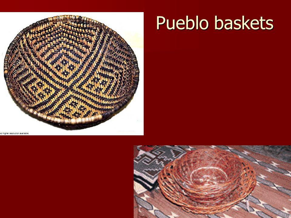 Pueblo baskets